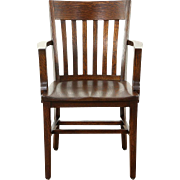 Oak Quarter Sawn 1910 Antique Bank, Library or Office Desk Chair