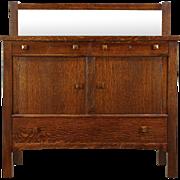 Arts & Crafts Mission Oak Antique Craftsman Sideboard, Server or Buffet