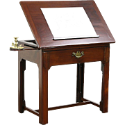 Architect Table 1880 Antique English Mahogany Pull Out Adjustable Drafting Desk