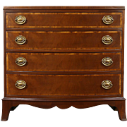 Traditional Mahogany 1920's Antique Bowfront Chest or Dresser