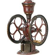 "Fairbanks Morse Chicago Antique 1890's Iron Coffee Grinder Mill, 16"" Wheels"