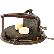 Templeton Signed Computing Scale Antique Iron Cheese Cutter, Pat. 1903