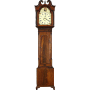 Scottish Georgian 1825 Antique Tall Case Grandfather Clock, Picken of Edinburgh