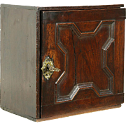 English Antique 1870 Oak Collector Cabinet or Jewelry Chest, 8 Drawers
