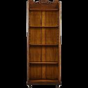 Oak Antique 1900 Bookcase or Bathroom Cabinet, Adjustable Shelves