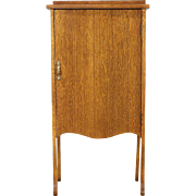 Oak 1910 Antique Sheet Music File Cabinet