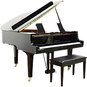 "Yamaha Signed GH1 5' 3"" Polished Ebony 1999 Grand Piano & Bench"