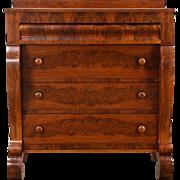 Empire 1830 Antique Chest or Dresser, Cherry & Mahogany