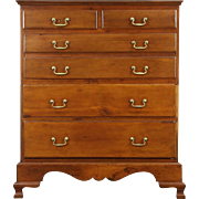 Cherry 1790 Antique New England Tall Chest or Dresser