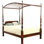 Ethan Allen Rice Plantation Four Poster Queen Size Bed, Removable Canopy