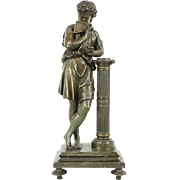 Panflute Player, Antique 1890 Classical Statue