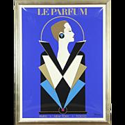 Le Parfume Poster signed Razzia Clandestin for Guy Laroche Perfume, Custom Frame