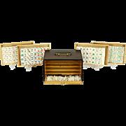 Mah Jong or Majong Boxed Chinese Vintage Game Set