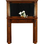 Fireplace Mantel & Mirror, 1895 Antique Architectural Salvage, Milwaukee