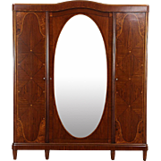 Armoire, Wardrobe or Closet 1925 English Art Deco Rosewood Marquetry