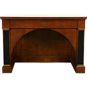 Classical Arched Vintage Walnut Library Desk
