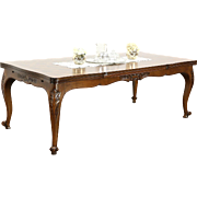 Country French Carved Cherry Vintage Dining Table, Extends 11' 3""