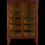 Mahogany 1910 Antique China or Curio Display Cabinet