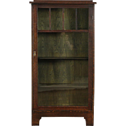Arts & Crafts Mission Oak Antique Bookcase Craftsman Bath Cabinet