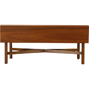 Mahogany Dropleaf Vintage Coffee Table, Signed Kittinger of NY