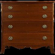 Hepplewhite 1790 Antique Cherry Linen or Hall Chest or Dresser
