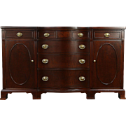 Traditional Mahogany 1950 Vintage Sideboard, Server or Buffet