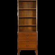 Midcentury Danish Modern Teak 1960 Vintage Bookcase & Cabinet