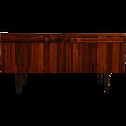Rosewood Midcentury Danish Modern Vintage Credenza, TV Console Cabinet