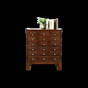 Stacking Quarter Sawn Oak 18 Drawer Antique File Cabinet, 1918 Yawman NY