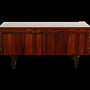 Rosewood Midcentury Danish Modern Vintage Credenza Cabinet, TV Console