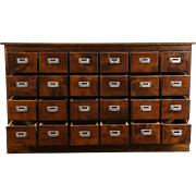 Apothecary Drugstore Counter, 1910 Antique 24 Drawer File Cabinet