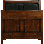 Arts & Crafts Mission Oak Antique 1905 Craftsman Sideboard, Server or Buffet