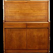 Midcentury Modern 1960 Vintage Teak Secretary Desk, Signed Remploy England