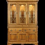 Oak Vintage China Cabinet, Leaded Beveled Glass, Richardson Bros of WI