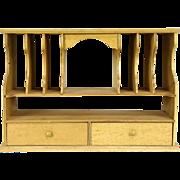 Secretary Desk Fragment,1930's Vintage Organizer Insert, Curly Maple