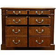 Custom 6 Drawer Lateral Walnut Executive Vintage Office File Cabinet Credenza