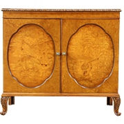 Hunt Board, Sideboard, Server or Credenza, 1940's Vintage Carved Olive Ash Burl