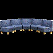 Midcentury Modern Vintage Set of 5 Danish Airport Lounge Chairs, Jorgensen 1997