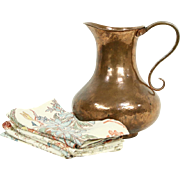 Copper Hand Hammered Jug or Pitcher, Turkey