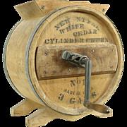 Butter Churn, Pine Antique Signed White Cedar No 1, 3 Gal.
