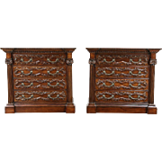 Pair of Georgian Lane Signed Chests, Dressers or Bedside Chests