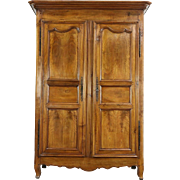 French Country or Provincial Antique 1780 Armoire or Wardrobe, Cherry & Oak