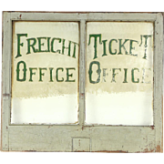 Tombstone Railroad  Antique Architectural Salvage Train Ticket & Freight Window
