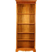 Library Yew Wood Bookcase, Adjustable Shelves, Richwoods of London 1995