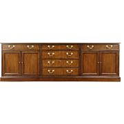 Baker Collector Edition Traditional Mahogany Vintage Credenza & Lateral File