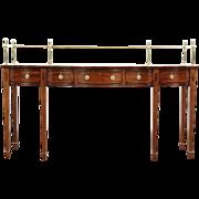 Georgian Style Vintage Mahogany Sideboard or Server, Rosewood Banding