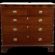 Georgian Period Mahogany Antique 1800's Chest or Dresser, Inlaid Banding