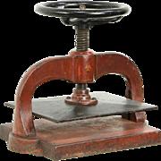 Bookbinder 1880 Antique Iron Book Press, Original Paint
