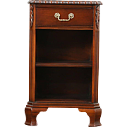 Traditional Georgian Vintage Mahogany Nightstand, Signed Drexel