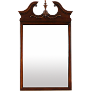 Traditional Georgian Vintage Mirror with Pediment by Drexel